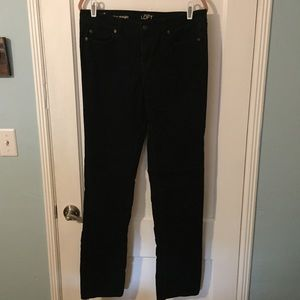 Loft modern straight corduroy pants.